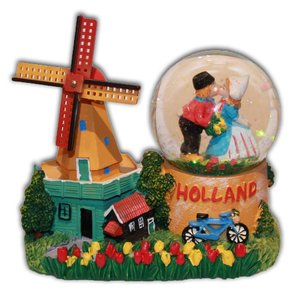 Typisch Hollands Sneeuw schudbol Holland - Molen
