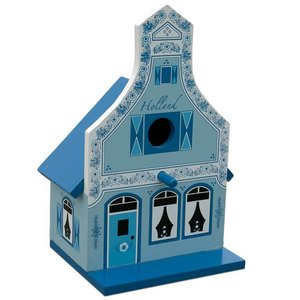 Typisch Hollands Birdhouse Delft Blue house