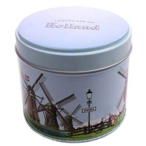 Stroopwafels (Typisch Hollands) Syrup Waffles Canned - Windmill Landscape