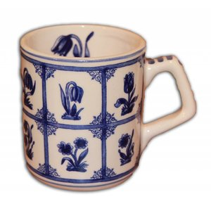 Typisch Hollands Delft Blue Mug - Tulpjes