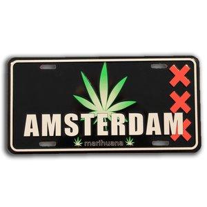Typisch Hollands Kentekenplaat Amsterdam - Cannabis