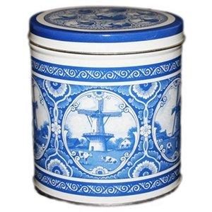 Stroopwafels (Typisch Hollands) Stroopwafels in Blik Holland - Delfter Blau
