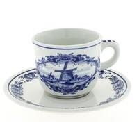 Typisch Hollands Tasse und Untertasse Delfter Blau