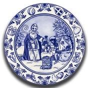 Typisch Hollands Wandbord Sinterklaas Delftware