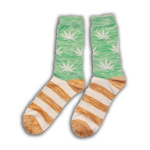 Robin Ruth Fashion Cannabis striped socks - Men