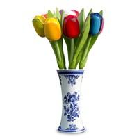 Typisch Hollands Houten Tulpen in vaas