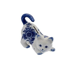 Typisch Hollands Moneybox Cat - Delftware