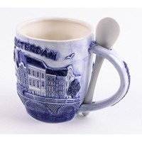 Typisch Hollands Mug with Spoon 3 D Amsterdam