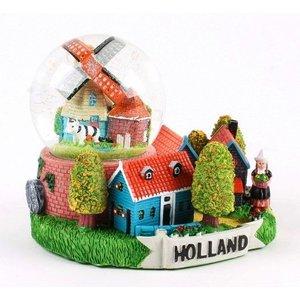 Typisch Hollands Sneeuwbol met Dorps-tafereel 10 cm