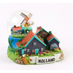 Typisch Hollands Snow globe with scaffold mill 10 cm