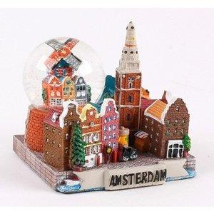 Typisch Hollands Schneekugel mit Urban-Szene 7cm