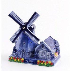 Typisch Hollands Poldermolen Delfter Blau