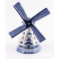 Typisch Hollands Poldermolen Delfts blauw 11 cm