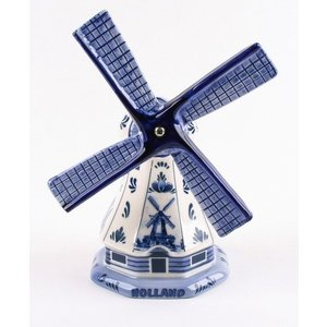 Typisch Hollands Poldermill Delft blau 11 cm