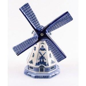 Typisch Hollands Poldermolen Delfter Blau 11 cm