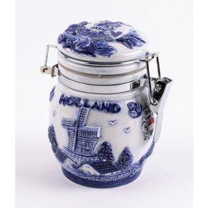 Typisch Hollands Delft blau weckpot 10cm Holland