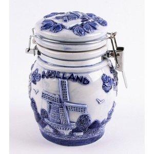 Typisch Hollands Delft blue weckpot 12 cm Holland