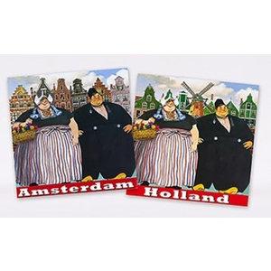 Typisch Hollands Servetten Boerenechtpaar