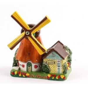 Typisch Hollands Poldermolen - Keramik - Farbe 14 cm