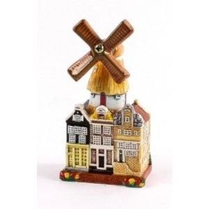 Typisch Hollands Stadsmolen - Keramiek - Color 10 cm