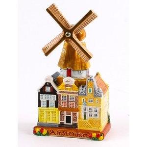 Typisch Hollands Stadsmolen - Keramik - Farbe 14 cm