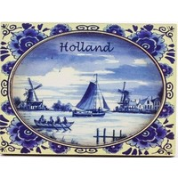 Typisch Hollands Magneet - Holland - Delfts blauw