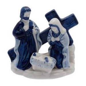 Heinen Delftware Holy Family with Cross