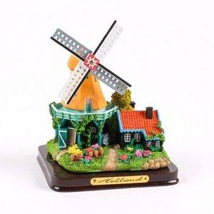 Typisch Hollands Mühle Landschaft 12cm