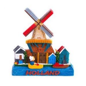 Typisch Hollands Magneet Molen - Holland - Klomp