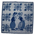 Typisch Hollands Kitchen Towel Blue - Kissing Couple