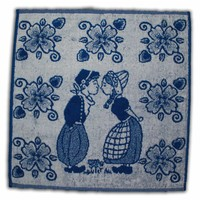 Typisch Hollands Kitchen Towel Blue - Kissing Couple