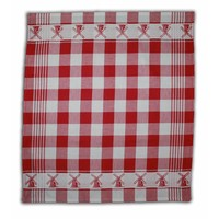 Typisch Hollands Tea towel - red checkered