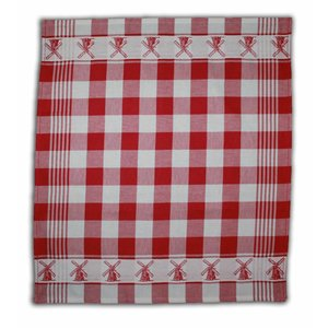 Typisch Hollands Tea towel - red checkered