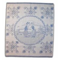 Typisch Hollands Tea towel Blue Kissing Couple