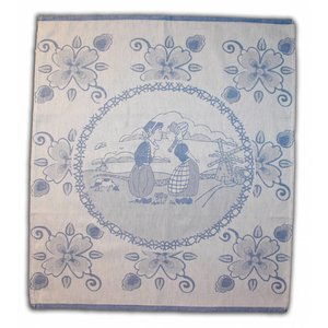 Typisch Hollands Tea towel Blue Kissing Couple