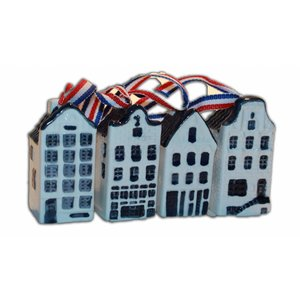 Typisch Hollands Weihnachtsschmuck - Delfter Blau Häuser