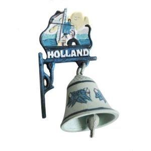 Typisch Hollands Gietijzeren Bel (Klein) Delfts