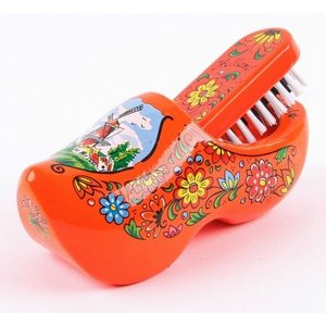 Typisch Hollands Brush bowl Orange Flower motif