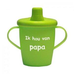 Kiddyboo Love Cups - Ik hou van PAPA - Groen