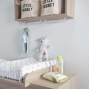 ChildHome Witte mand katoen met zwart opschrift Little Basket