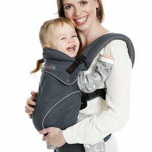 Babylonia Flexia - Deep Grey - 3 positie draagzak compleet van geboorte tot peuter
