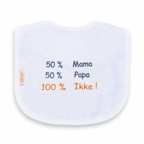 Funnies Tekstslabber 50% Mama, 50% Papa, 100% Ikke