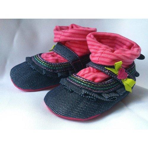 Jeans ballerina babyschoentjes