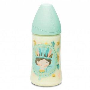 Suavinex Babyfles 270 ml Blue Indian Phisio