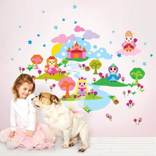 Sticker set French Bull Princess