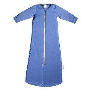 Smallvips Zeer dunne zomer slaapzak bamboe-tricot met extra lange mouwen tegen muggen! - Lila/blauw