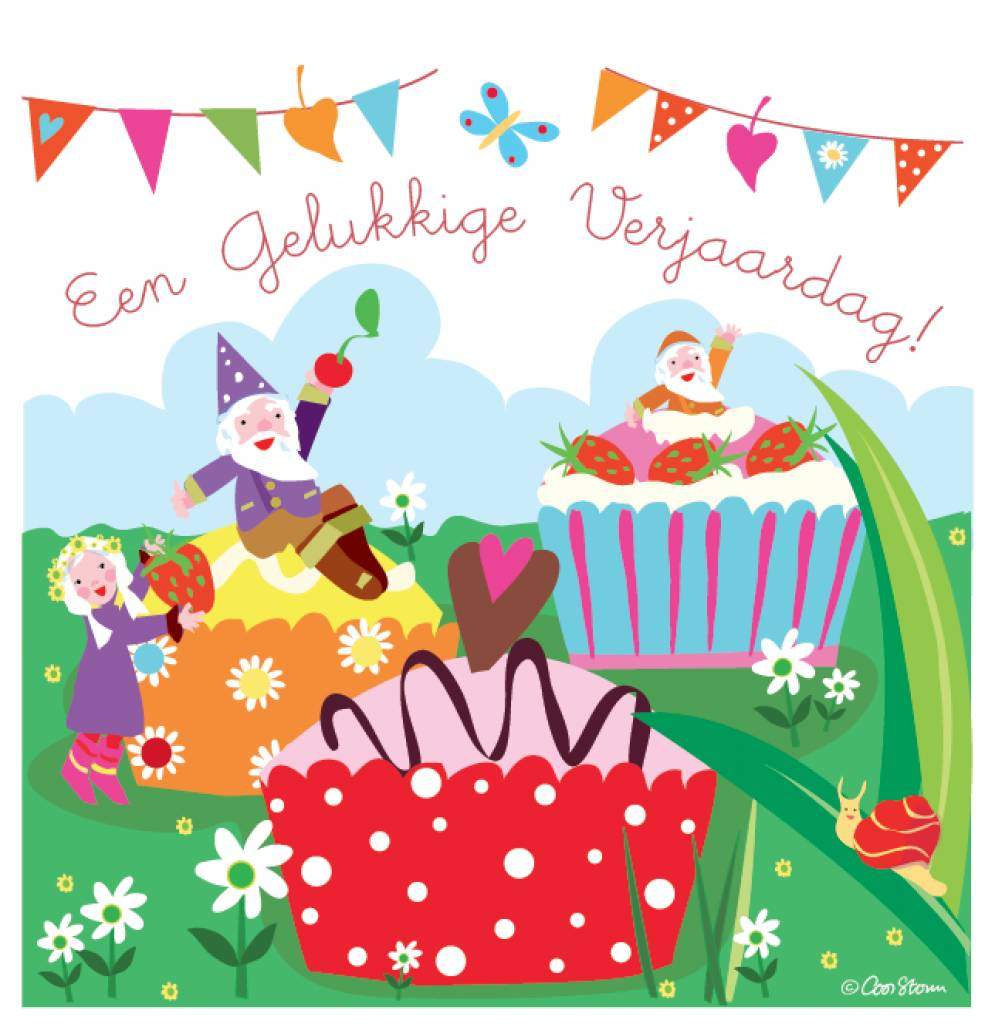 Verjaardag Peuter.Wenskaart Een Gelukkige Verjaardag