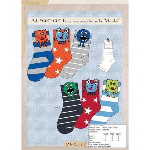 3 paar Stoere jongens-Sokjes Monster