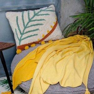 Lorena Canals Wasbaar Katoenen Sierkussen - Palm