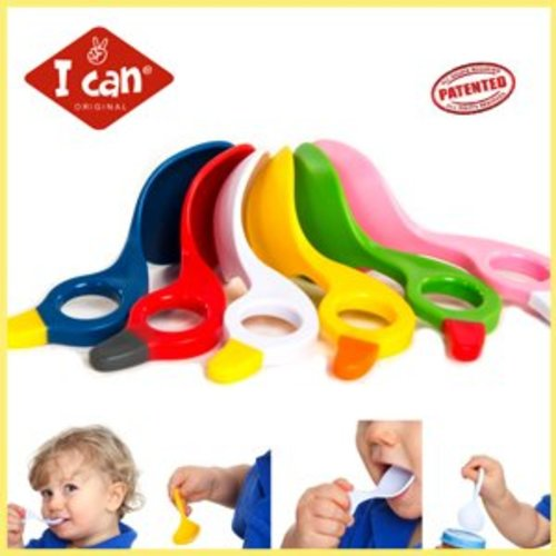 2 Unieke I Can babylepeltjes. Multi grip Spoon